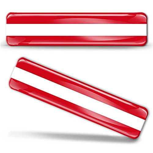 2 x sticker 3D gel silicone stickers Austria vlag Oostenrijk vlag vlag vlag vlag autosticker F 1
