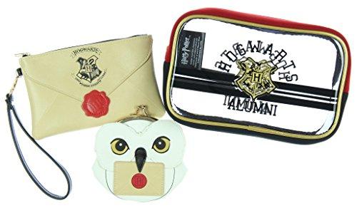 Harry Potter Hogwarts Alumni Jrs. Gift Set Makeup Case Zip Wallet & Coin Purse