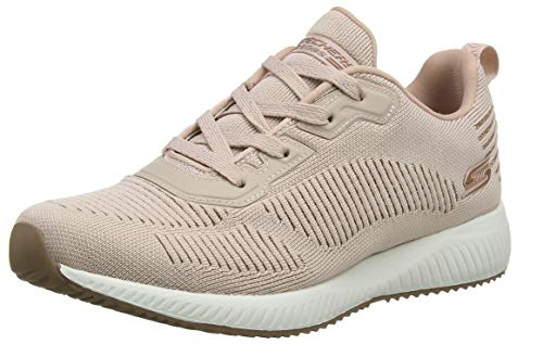 Skechers Bobs Squad - Glam League Sneaker Damen, Pink (Blush Engineered Knit/Rose Gold Trim Blush), 39 EU