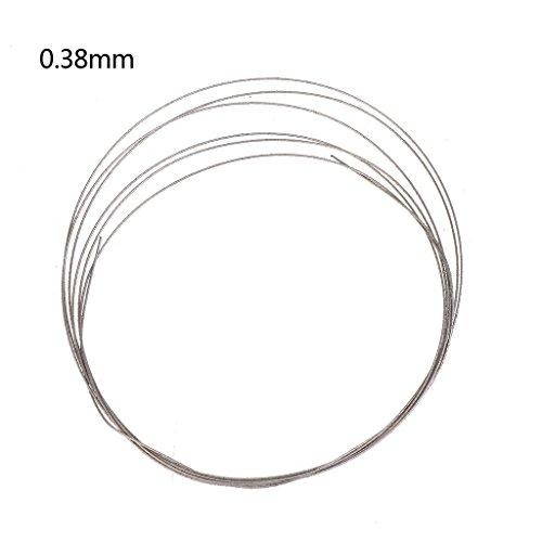 Lamdoo Sägeblätter-Metalldraht zum Schneiden von Diamanten/Jadeglas 1 m, 0,26 / 0,38 mm, Diamant, silber, 0.38mm