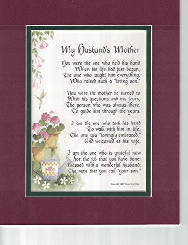 Genie's Poems My Husband's Mother A Poem Birthday Present for A Mother-in-Law, 87,