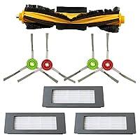 真空部品交換ローラーブラシサイドブラシHEPAフィルターフィットEcovacs Deebot OZMO 900 DN5Gロボット掃除機クリーナーアクセサリー交換フィルターサイドブラシMOP交換(色:スタイルF) (Color : Style D)