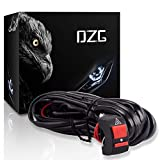 DZG Universal LED Light Wiring Harness Kit 12V with Relay 30A Fuse On Off Switch for Motorcycle Driving Lights Auxiliary Work Lamps 2 Leads