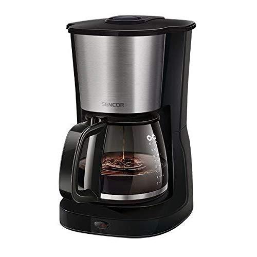 SENCOR 8590669195183 SCE 3050SS Filter, Kaffeemaschine mit Glaskanne, Schwarz