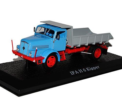 IFA W H 6 Kipper Blau DDR LKW 1/43 Atlas Modell Auto