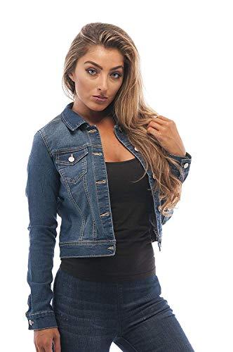 Hollywood Star Fashion - Chaqueta de vaquero para mujer - Azul - Large