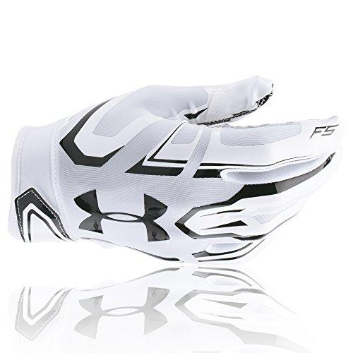 Under Armour American Football Receiver Handschuh F5 , weiß-schwarz m
