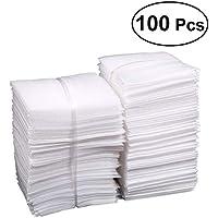 YeahiBaby 100 bolsas de espuma acolchadas para proteger platos, copas, botellas de vino, 25 x 30 cm