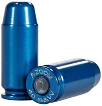 A-ZOOM, Pistol Metal Snap Caps.40 Smith & Wesson, Blue, Package of 10