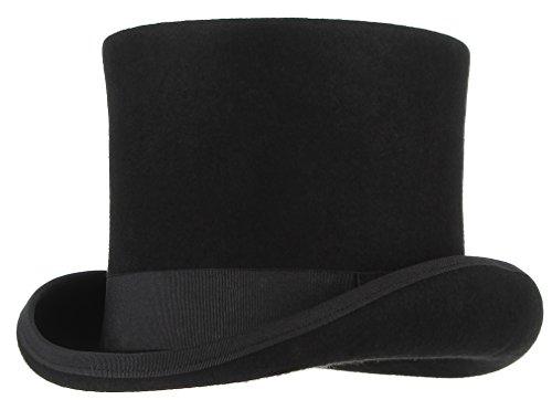 La vogue Herren Zylinderhut aus Wollfilz Verkleiden Hut Topper Hut Fasching Hut Party Karneval L