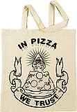 Vendax In Pizza We Trust Beige Bolsa De Compras