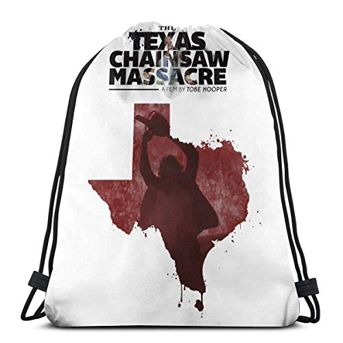 XCNGG Kordeltasche Kordeltasche Tragbare Tasche Sporttasche Einkaufstasche Einkaufstasche The Texas Chain Saw Massacre Unisex Sports Drawstring Backpack Gym Bag