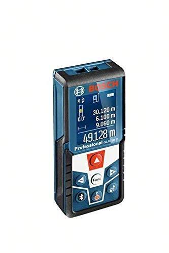 Bosch 06159940H0 50C afstandsmeter, laserafstandsmeter, GLM C Professional, bouwstatief BT 150, meten van lengtes, oppervlakken, volume en hellingen, messenbereik: 0,05 – 50 m, 1,5 V, zwart