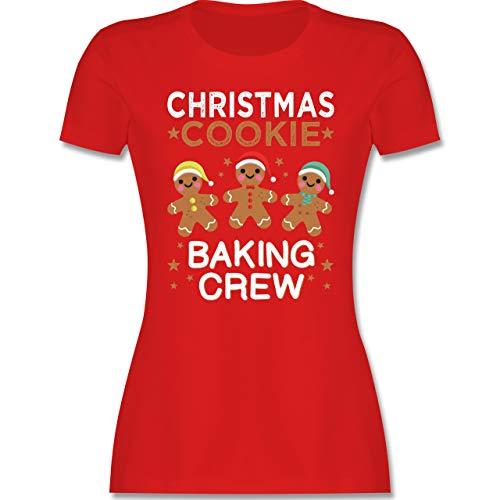 Weihnachten & Silvester - Christmas Cookie Baking Crew - 3 Kekse - XXL - Rot - Geschenk - L191 - Tailliertes Tshirt für Damen und Frauen T-Shirt
