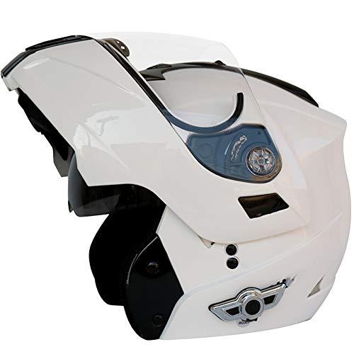 Motorcycle Bluetooth Helmet, Modular Flip-Type Double Sun Visor Full Helmet, DOT Certified Helmet, Built-in Mp3 FM Broadcast Integrated Intercom Communication System M