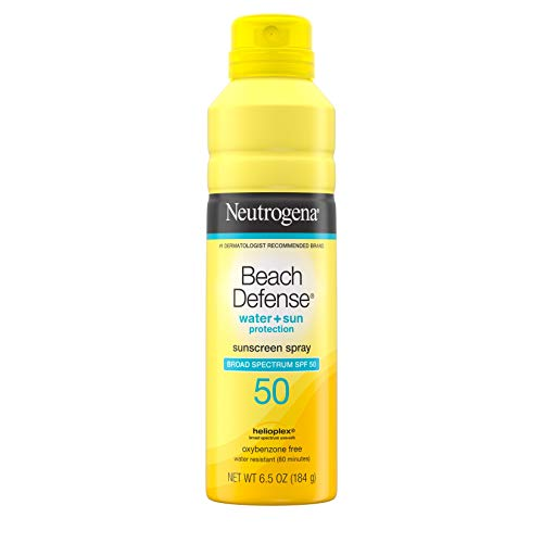Neutrogena Beach Defense Sunscreen Spray SPF 50 Water-Resistant Sunscreen Body Spray with Broad Spectrum SPF 50, PABA-Free, Oxybenzone-Free & Fast-Drying, Superior Sun Protection, 6.5 oz