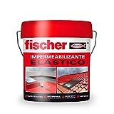 fischer - Pintura impermeabilizante (cubo 20kg) Gris con fibras, resistente al agua y exteriores