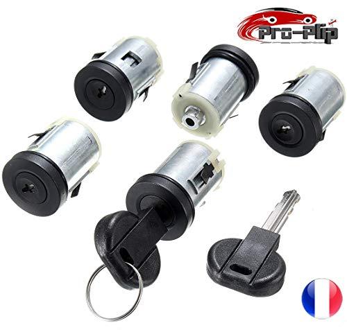 Pro-Plip - Juego de 5 cerraduras para Puertas y Cilindros para Peugeot Expert 806, Citroën Jumpy XM Evasion Dispatch, Fiat Scudo Ulysse, Citroën Synergie Xsantia y Llaves