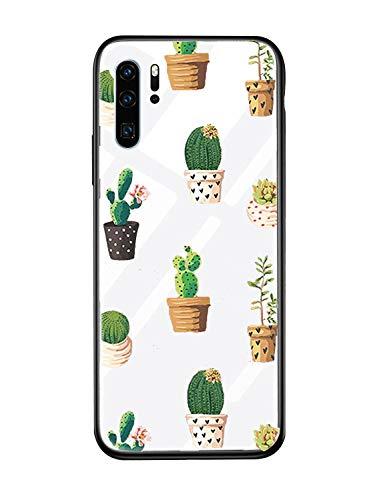 Caler Cover kompatibel mit Xiaomi Redmi Note 7 / Note 7 Pro Schutzhülle aus gehärtetem Glas 9H 【Kratzfest】 + Rahmen aus weichem TPU Silikon 【Stoßdämpfer】 Vogue Ultra Chic