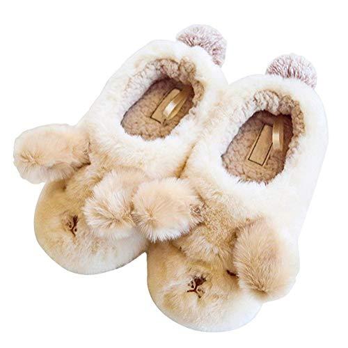 Minetom Winter Baumwolle Pantoffeln Plüsch Wärme Weiche Hausschuhe Kuschelige Home rutschfeste Slippers Mit Cartoon Für Herren Damen 01 Der Flauschige Hund 40-41 EU