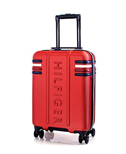Tommy Hilfiger London Expandable Hardside Luggage with TSA Lock, Red, 20 Inch