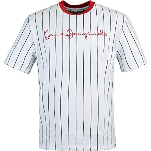Karl Kani Originals Pinstripe T-Shirt (XL, White)