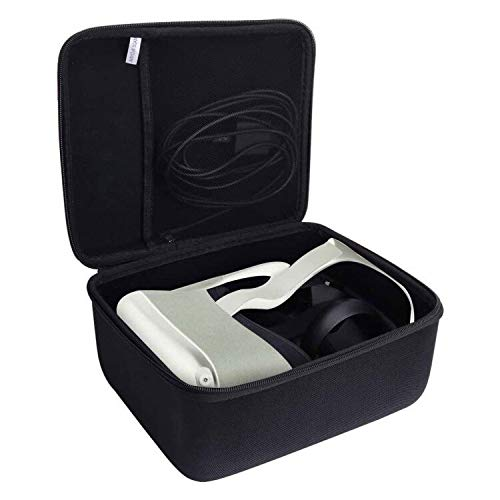 Aenllosi Hard Carrying Case Compatible with Oculus Quest 2 & Quest VR Gaming Headset (Black)