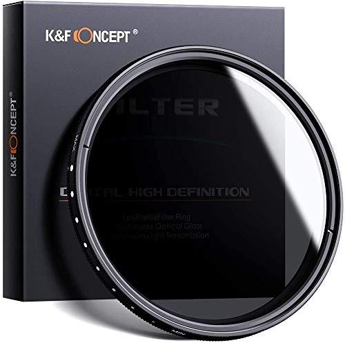 K&F Concept 58mm ND Fader Variable Neutral Density Adjustable ND Filter ND2 to ND400...