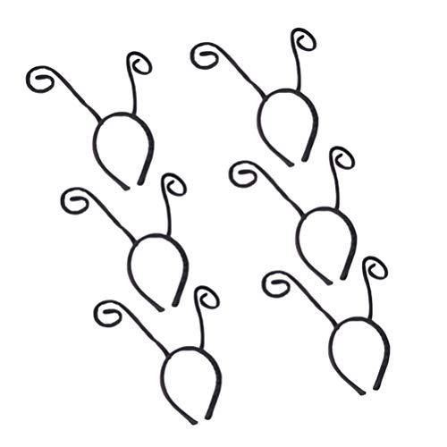PIXNOR Diadema de Antena 6 Uds. Diadema de Antena de Mariposa Negra Tentculo de Hormiga Disfraz de Fiesta de Halloween Aro para Nios Y Adultos
