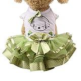 ZYUEER Vetement Chien Pas Cher, Petit Chien Chat Jupe Chihuahua VêTements pour Filles Couronne Robe De Princesse Chiot Chemise D'éTé