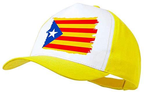 MERCHANDMANIA Gorra Amarilla Bandera CATALUÑA Independencia...
