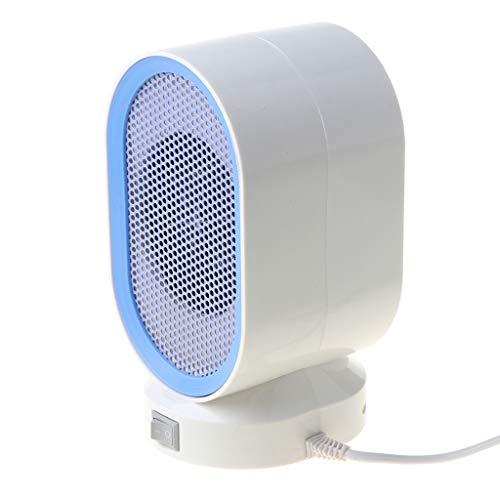 Calefactor portátil eléctrico, calefactor rápido con protección contra sobrecalentamiento, 400 W, pequeño calor solar, ventilador caliente para oficina