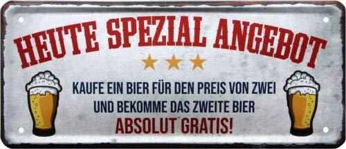 Vandaag speciale aanbieding voor bier 28x12 deco metalen bord 1928