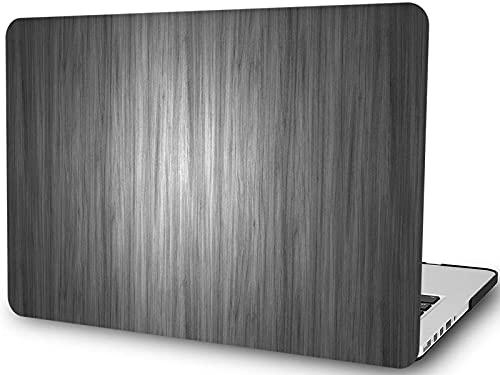 L2W Compatible con Macbook Pro de 15 Pulgadas, Modelo A1990 A1707, versión 2019 2018 2017 2016, con Barra táctil, Estuche rígido de plástico para computadora portátil de Grano de Madera, Madera Gris