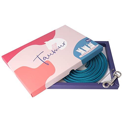 Taumur DIY-Set mit PPM-Seil für zweifach verstellbare Hundeleine - blaugrün