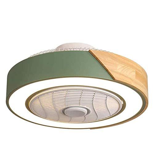 QJUZO LED Ventilador de Techo Dormitorio Regulable con Ventilador y Mando a Distancia, Lámpara de Techo Simple Para Balcón Baño Cocina Restaurante Estudio Infantil Iluminación