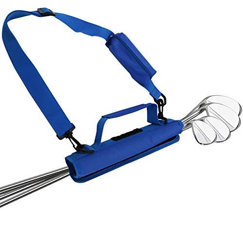 Golfbag Mini Carrybag Tragebag Leichte für Herren Damen Kinder Golfschläger-Umhängetasche Travelite (Blau in 1 Stücke)
