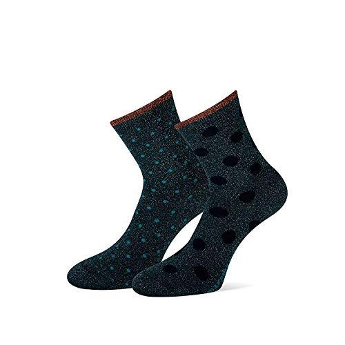 marcmarcs Damen Socken Maya 2er Pack (35/38, Green)