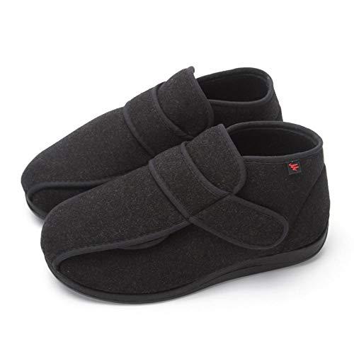 Diabetische wandelschoenen voor heren Ademende sneakers, diabetische voetschoenen voor herfst en winter, orthopedische schoenen voor dames, zwart_UK6, diabetische pantoffel
