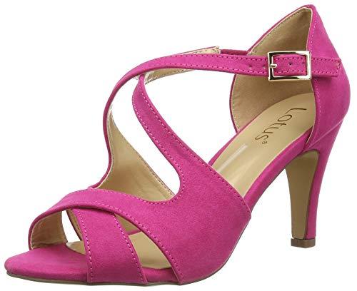 Lotus Damen Sadia Peeptoe Pumps, Pink (Fuschia Dk), 37 EU