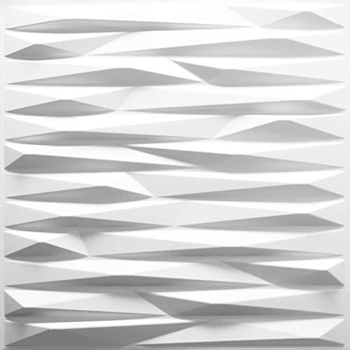 Revestimiento De Paredes 3D Valeria 3m² | 12 Paneles Decorativos 3d de 50x50cm | Paneles Decorativos Para Pared WallArt, Papel Pintado 3d | Panel De Pared 3d