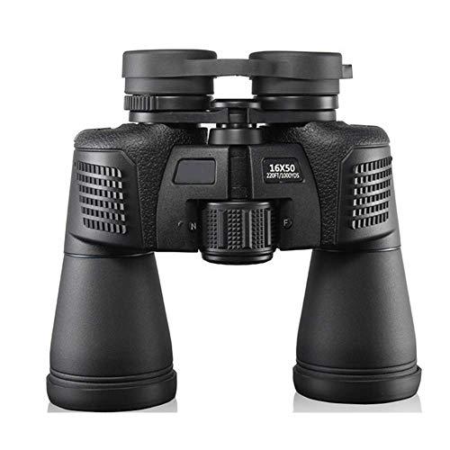 Binoculares para Adultos, 16X50 Binoculares Profesionales a Prueba de Agua Gran Angular Telescopio con Zoom HD de Alta Potencia para Viajes Camping Senderismo Caza Observación de Aves, Portátil