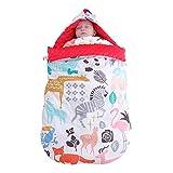 PDXTZ Multifuncional Sacos de Dormir con Capucha para bebés recién Nacidos, Algodón Suave, Resistente al Viento, Anti-Patada,Paquete Apretado, Colcha de bebé Apto para cochecitos de Cuna,B