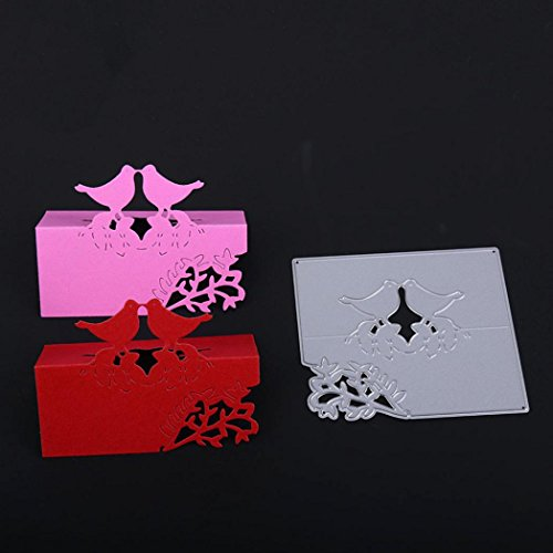 Stanzschablone Scrapbooking, FNKDOR Stanzmaschine Prägeschablonen Schneiden Stanzformen Schablonen, für Sizzix Big Shot/Cuttlebug/und Andere Prägemaschine (E)