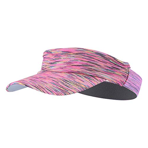 TEFITI Sun Visor Hat for Women Men, Adjustable Sports Hat for Golf Tennis Cycling Running Jogging(Pink)