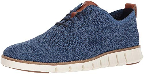 Cole Haan Men's Zerogrand Stitchlite Oxford, Riverside/Marine Blue/Ivory, 10 Medium US