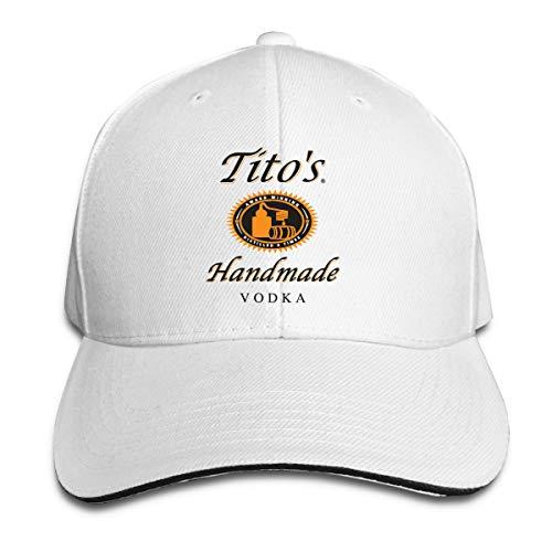 N / A Tito'S Vodka Cap - Gorra de béisbol (poliéster) blanco...