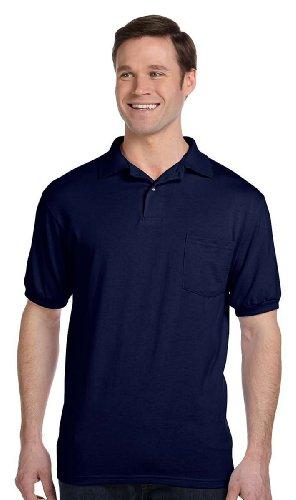 Stedman par 5,5 oz 50/50 Jersey Knit Polo w / poche dans la marine - XXX-Large