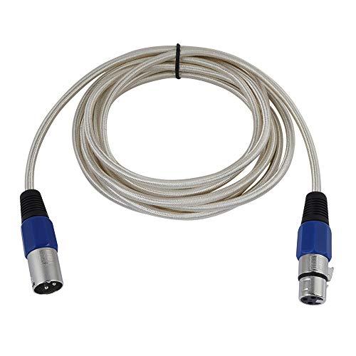 6-MM-XLR microfoonkabel (stekker/stopcontact), 0,3 m / 1 m / 1,8 m / 3 m / 5 m / 10 m / 15 m / 20 m, met koper beklede aluminium audiomicrofoonkabel voor eindversterkers, Mengtafels, microfoons (3m)
