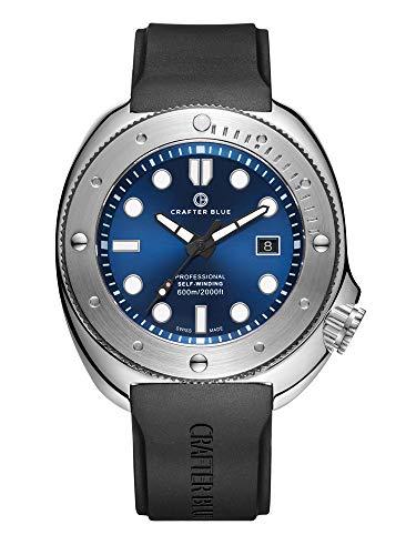 CRAFTER BLUE Hyperion Ocean 600M Reloj de hombre automático hecho en Suiza Diver
